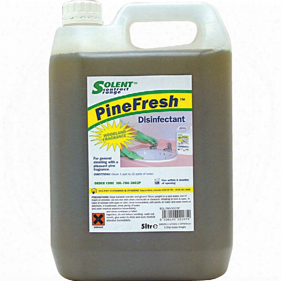 Solent Cleaning Pine Disinfectant/cleanse R 5ltr