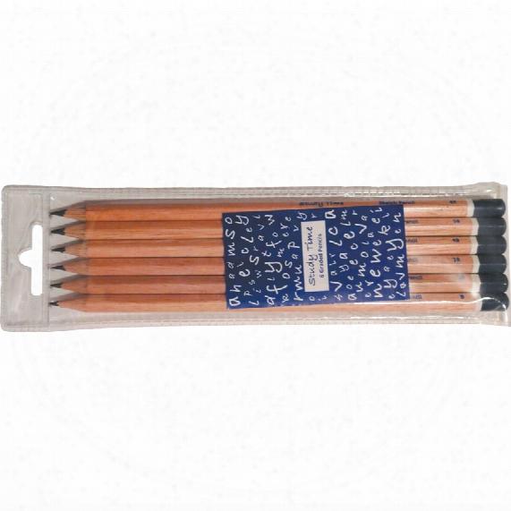 Study Time Sketching Pencils (b,2b,3b,4b,5b,6b) (wallet Of 6)