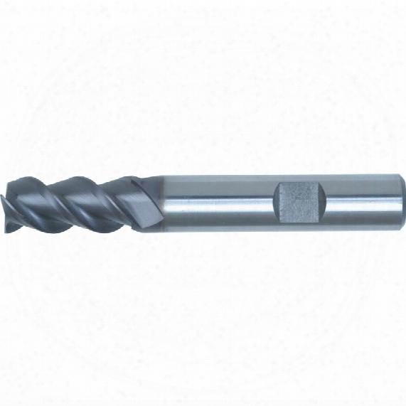 Swisstech 8.0 50deg Weldon Std High Helix E/mill-ticn-8% Co
