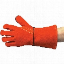 Tuffsafe Red Lined Gauntlets Reinforced Thumb Size 10