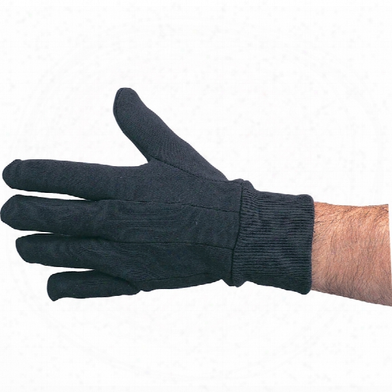 Tuffsafe Black Cotton Jersey Lined K/w Gloves Size 9