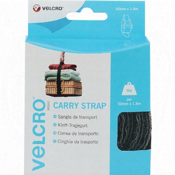 Velcro Carry Strap 50mm X 1.8m X 1 Strap Black