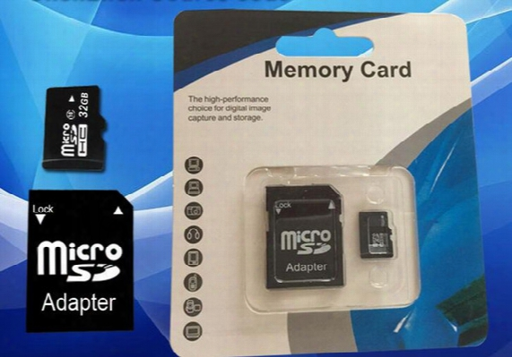 16gb Micro Sd Tf Memory Card Class 10 With Adapter 8 Gb Class 10 Tf Memory Cards With Free Sd Adapter Retail Package Dhl Ems Ups