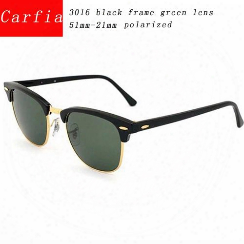 2016 New Arrival Carfia 51mm Metal Hinge Polarized Sunglasses Men Sun Glasses Women Glasses Uv400 51mm Unisex Brand Designer Sunglasses