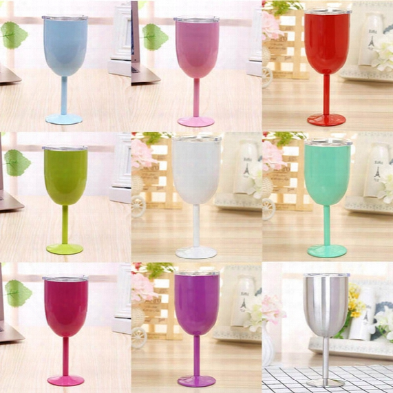 2017 European 10oz Stainless Steel Red Wine Cup Anti-broken Wine Glasses Stemware Creative Wine Cup Durable Drinkware Car Cups