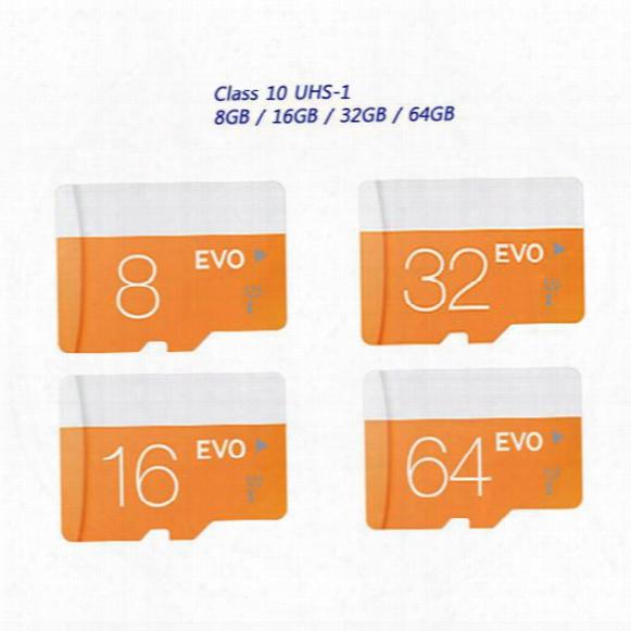 2017 New Hot!! Class 10 Evo 128gb 64gb 32gb 16gb 8gb Micr Sd Card Microsd Tf Memory Card C10 Flash Sdhc Sd Adapter Retail Package