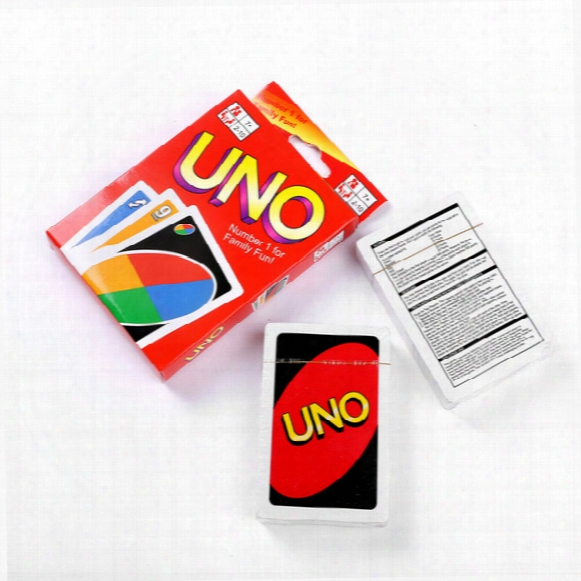 2017 New Poker Card Popular Entertainment Card Games Uno Cards Family Fun Entermainment Board Game Kids Funny Dhl Free