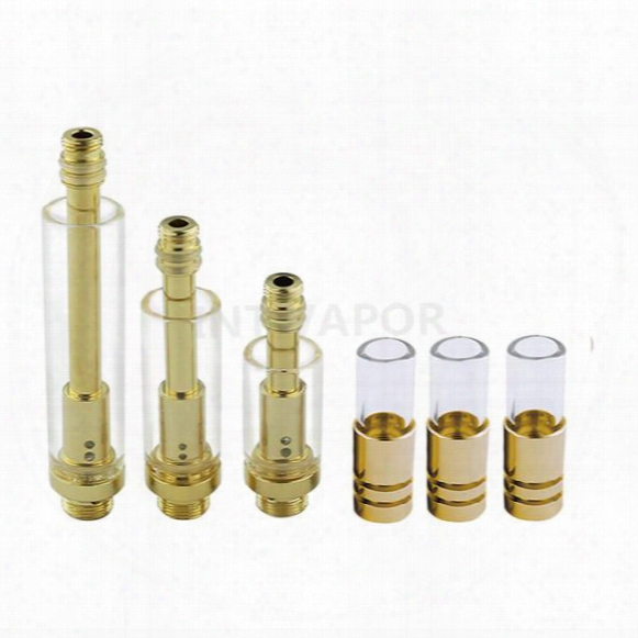 510 Thread Gold Stainless Cartridge Pyrex Glass Thick Oil Tank Bud Touch Cartridge O Vape Pen Kits-int03