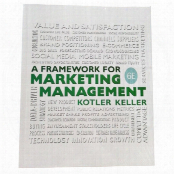A Framework For Marketing Managemen 6th Edition 978-0133871319