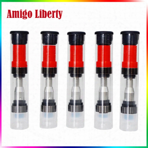 Amigo Liberty Tank Glass Cartridge Vaporizer Amigo O Pen Vaporizer Pen 510 Thread Cartridge Big Hole Thick Oil Glass Tank Atomizer