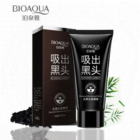 Bioaqua Deep Cleansing Black Mud Face Mask Remove Blackhead Facial Mask Strawberry Nose Acne Remover Face Care