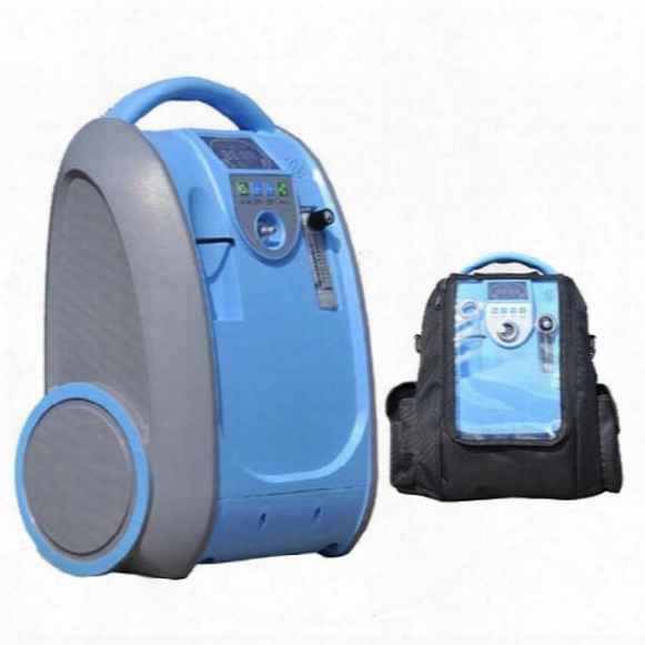 Brand New 5l Portable Adjustable Oxygen Concentrator With Ac110-220v Plug And Rechargeable Li-battery And Car Adapter