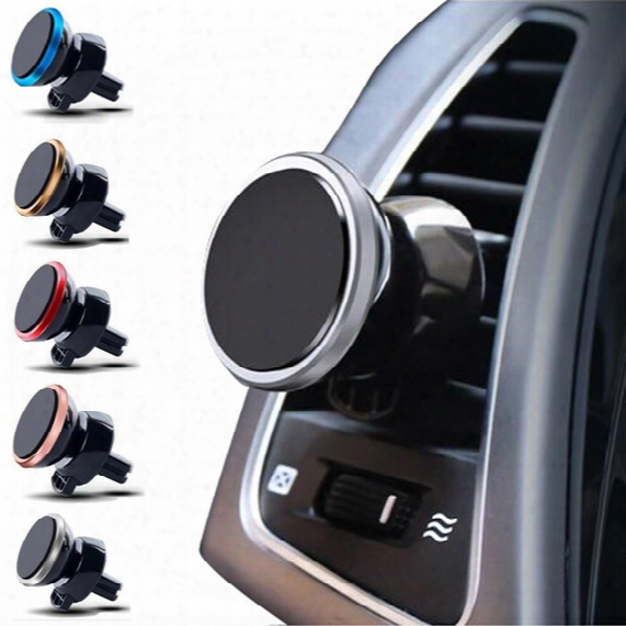 Free Dhl Magnet Car Phone Holder Air Vent 360 Rotatable Stand Mount For Phones