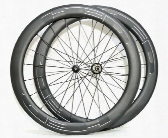 Free Shipping Hed 60mm Depth 25mm Width Wheel Full Carbon Road Bike Wheelset Light Weight With Powerway R36 Hubs 700c Clincher Wheelset