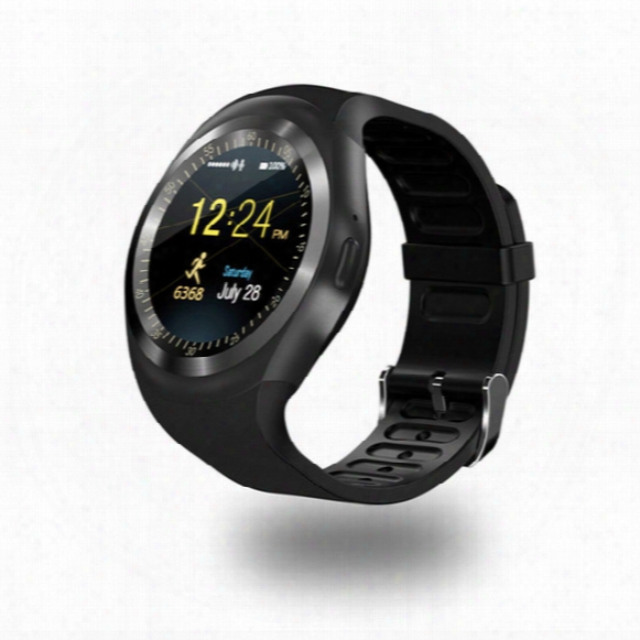 Free Shipping Y1 Smart Watch Round Wrisbrand Android Use 2g Sim Card Intelligent Mobile Phone Smartwatch