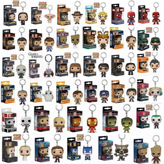 Funko Pop Gxhmy Marvel Super Hero Harley Quinn Deadpool Harry Potter Goku Spiderman Joker Game Of Thrones Figurines Toy Keychain