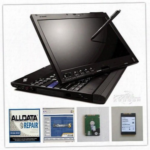 Latest 10.53 Alldata And Mitchell Software+laptop X200t Toughbook With 1tb Hdd Ready To Work Auto For All Car Data
