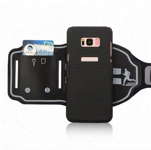 New Multi-function Mountain Sports Exercise Wallet Card Armband Case Cover Skin Shell For Samsung Galaxy S8 And S8 Plus