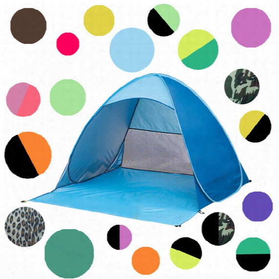 Outdoor Quick Automatic Opening Tents Instant Portable Beach Tent Beach Tent Beach Shelter Hiking Camping Family Tents For 2-3 Person B1163