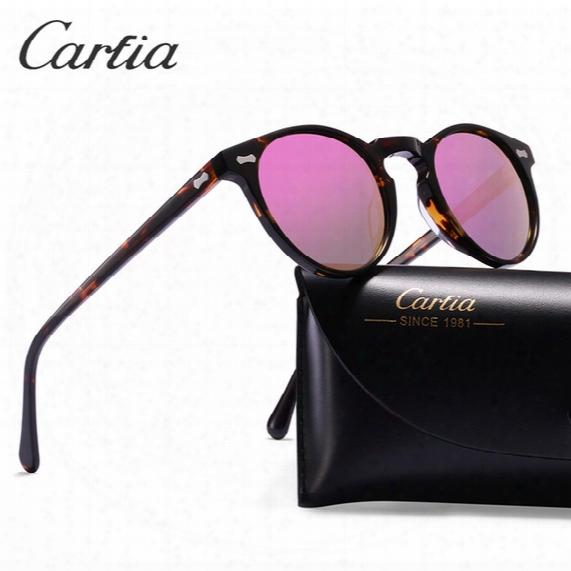 Polarized Sunglasses Women Sunglasses Carfia 5288 Oval Designer Sunglasses For Men Uv 400 Protection Acatate Resin Glasses 5 Colors With Box