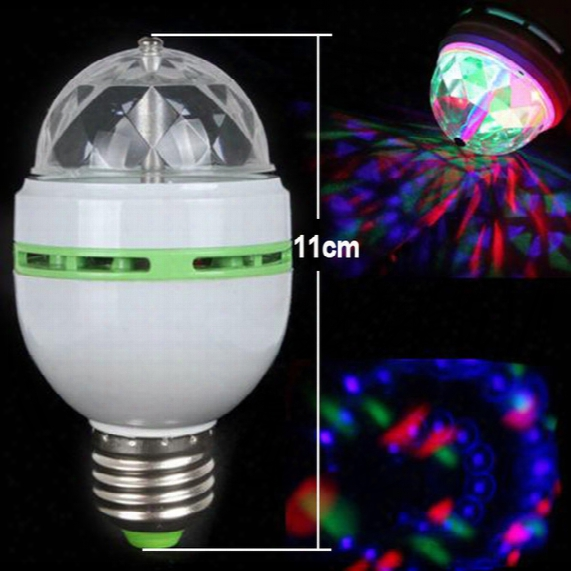 Promotion Magic Ball Rgb Full Color 3w E27 Led Bulb Crystal Auto Rotating Stage Effect Dj Light Bulb Mini Laser Stage Light Free Shipping
