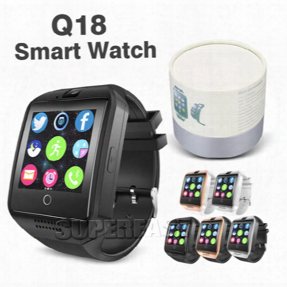 Q18 Smart Watch Bluetooth Smart Watches For Android Phone With Camera Q18 Support Tf Card Nfc Connection With Retail Package
