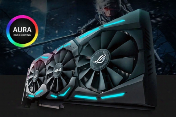Rog-strix-gtx1080ti-o11g-gaming Gtx 1080 Ti 11gb Oc Edition Vr Ready 5k Hd Gaming Hdmi Dvi Overclocked Gddr5x Graphics Card Aura Sync Rgb