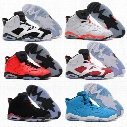 Free Shipping 2016 air retro 6 cheap basketball shoes Olympic red black Infrared Carmine Sneaker Sport Shoe For Online Sale size 8 - 13