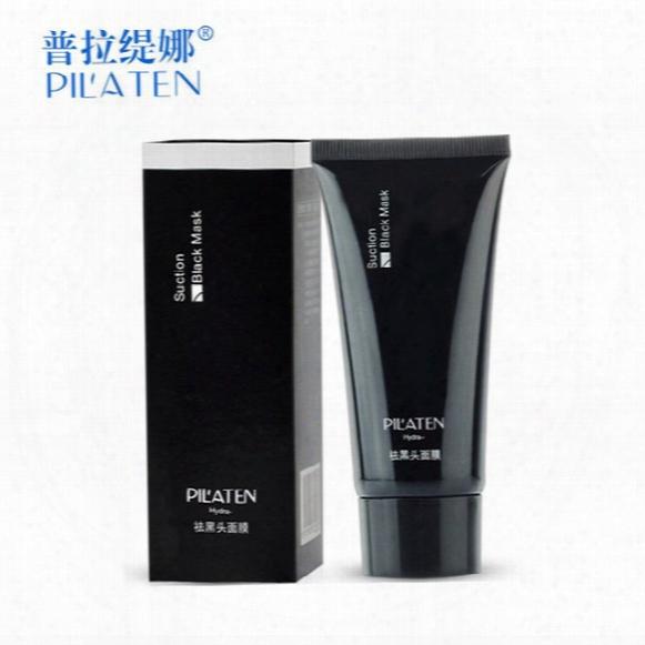 Top Selling Dhl 800/lot Pilaten Suction Black Mask Facial Mask Blackhead Remover Peeling Acne Treatments Peel Off Mask