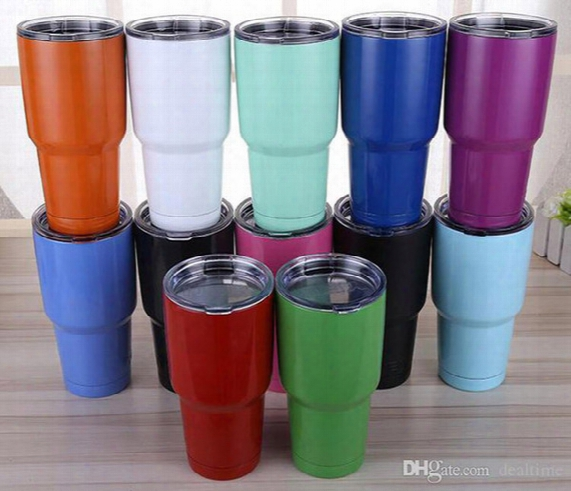 Tumbler 30 Oz Cups Cars Beer Mug Large Capacity Mug Tumblerful 900ml Cups 23 Colors Free Shipping