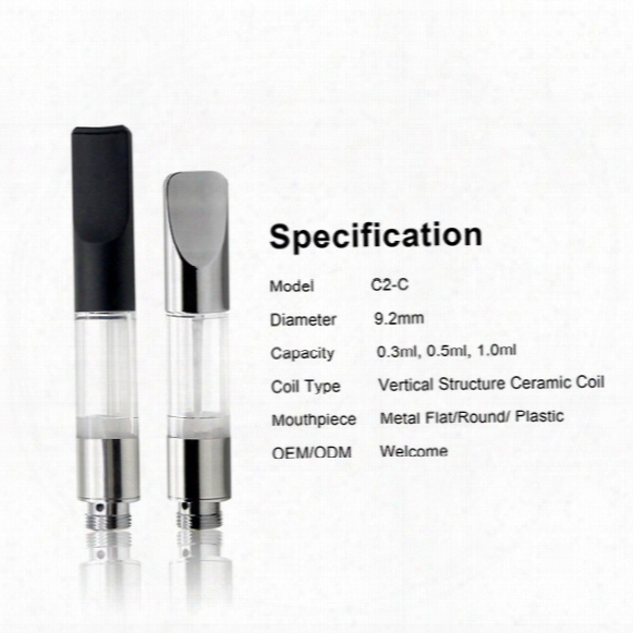 Vertcal Structure Ceramic Coil G2 Cartridge 0.5ml 0.8ml Clear Tube Vaprozier Ce3 Oil Tank Cartridge