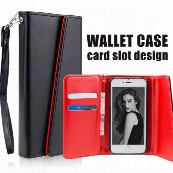 Wallet Case Pu Leather Cases For Iphone X 8 7 7plus 6plus Case Wallet Back Cover Pouch With Card Slot Photo Frame Opp Bag