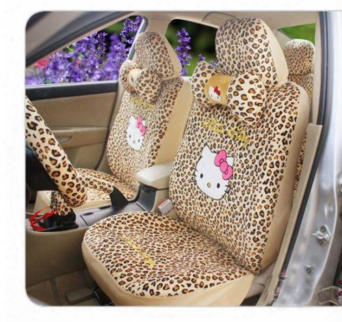 18pcs Hello Kitty Universal Auto/car Seat Covers Two Colors Available