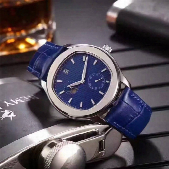 2017 New Listing Men's Watches Hih Quality Imported Automatic Mechanical Watch 316 Stainless Steel Case Leather Strap Calendar Display