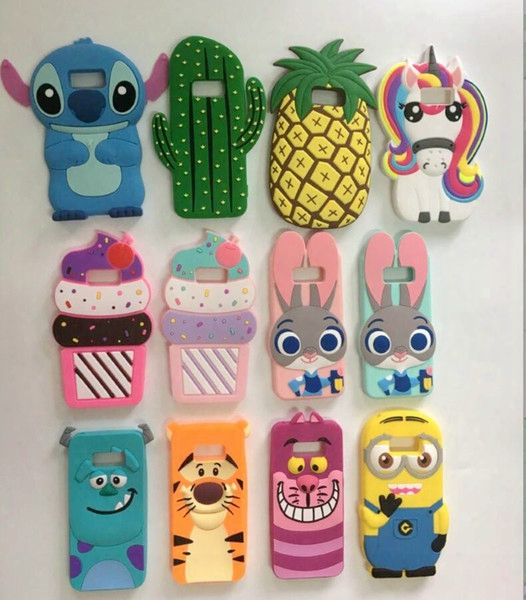 3d Cartoon Silicon Minion Case Cover Mobile Phones For Apple Iphone 7 8 6s Plus 5s Se Samsung Galaxy S8 S6 S7 Edg