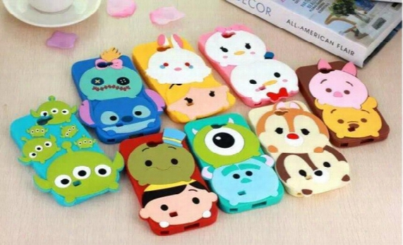 3d Cartoon Silicone Case Minnie Stitch Sulley Back Cover For Iphone 7 6 Plus 5s Note 5 4 S6 S8 Plus Goophone I7