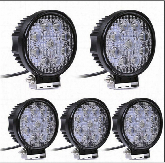 4 Inch 27w Led Wor Light Bar For Indicators Motorcycle Driving Offroad Boat Car Tractor Truck 4x4 Suv Atv Flood 12v