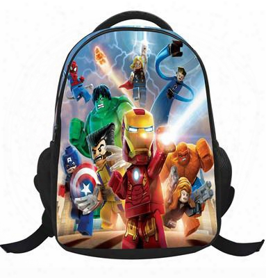5 Styles Lego Iron Man Batman School Bag Kids School Backpack For Girls Boys New Cartoon Backpacks Bag School Backpack Bag