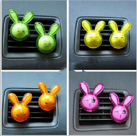 Car Interior Accessories Car Air Freshener Cute Rabbit Design Auto Air Outlet Aromatherapy Supplies Free Shipping