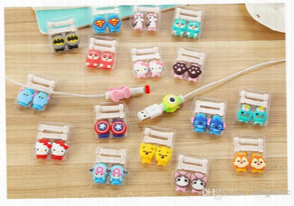Cartoon Usb Cable Earphone Protector Headphones Line Saver For Mobile Phone Charging Line Data Cable Protecter