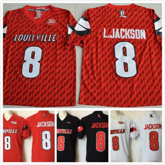 Cheap 2016-2017 New Style Cardinals 8 Lamar Jackson Jerseys Men College Limited Sport Rugby Jerseys