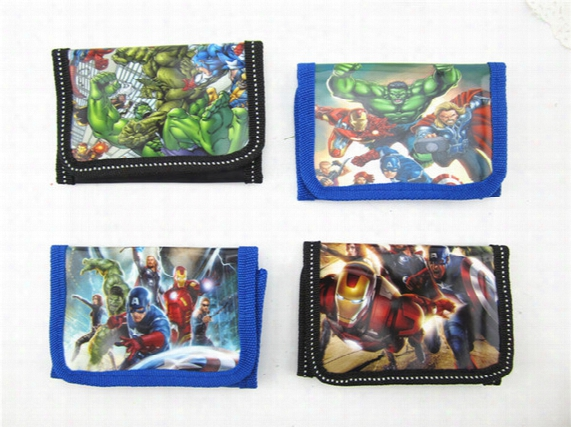Children Wallet The Avengers Super Heros Boys And Girls Purse Cartoon Iron Man Hulk Kids Wallets C001
