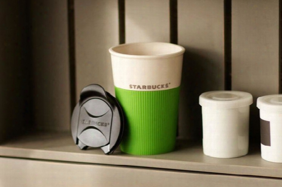 Classic Starbucks Via Instant Coffee Mug 8oz Color With Cover Silicone Case Double Insulation Mug In-car Coffee Cup