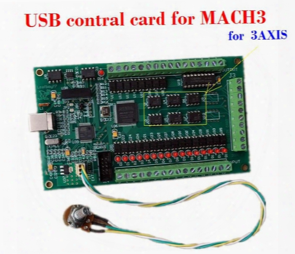 Cnc 3 Axis Mach3 Usb Smooth Stepper Breakout Board Motion Controller Card Module For Carving Machine