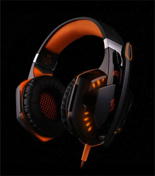 Each G2000 Over-ear Game Gaming Headset Earphone Headband Headphone With Mic Stereo Bass Led Light For Pc Game Dhl