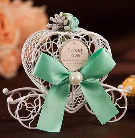 Fashion Europe Iron Carriage Candy Box, Baby Favour Love Candy Box, Wedding Candy Box Free Shipping 100 Pcs/lot