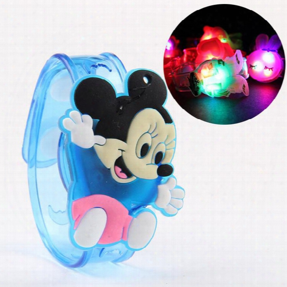 New 2016 Cheap Fashion Kids Led Watch Bracelet Toy Boys Girls Colorful Flash Watches Childred Cartoon Watch Toy Party Decorations