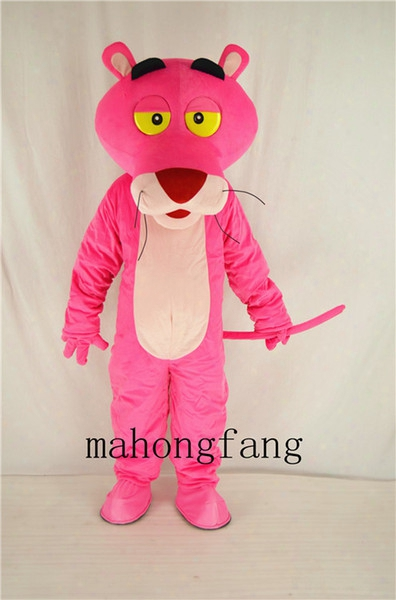 New Pink Panther Mascot Costume Game Fancy Dress Christmas Party Adult Size Cartoon Costume Free Shipping Factory Direct Sale