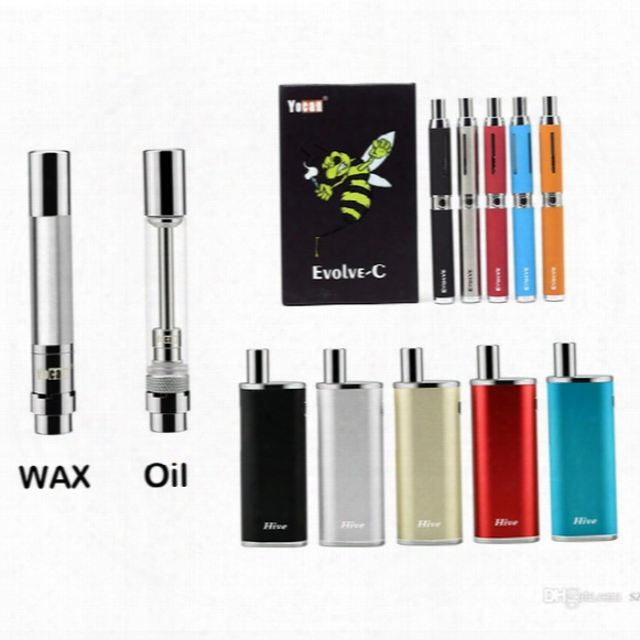 Original Yocan Hive Vaporizer Evolve-c Tank Wax Vaporizer & Oil Cartridges No Leakage Design 5pcs/pack Replacement Atomizers