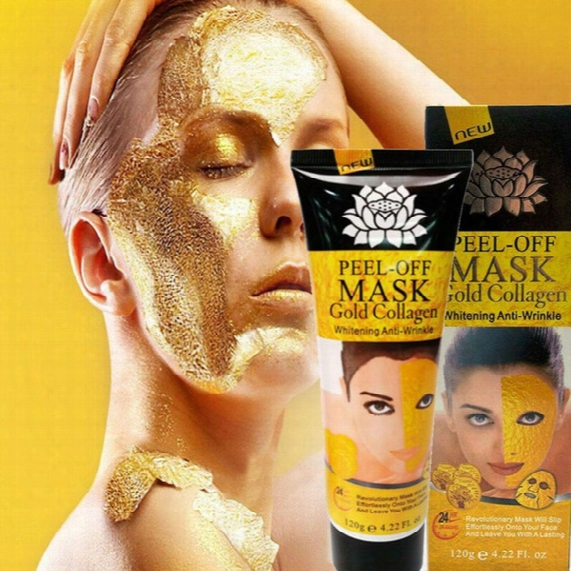 Peel Off Gold Collagen Facial Mask Whitening Face Mask Crystal Gold Powder Facial Mask Skin Care Products 120ml